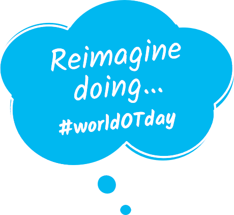 World OT Day 2020 Bubble Reimagine Doing Slogan